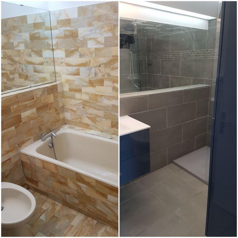 Travaux de r novation pour un appartement louer - Renovation salle de bain marseille ...